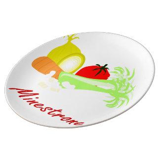 Minestrone Porcelain Plates