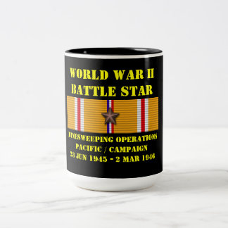 Minesweeping Operations Pacific Campaign Two-Tone Coffee Mug