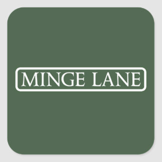 Minge Lane, Street Sign, Worcestershire, UK Square Sticker