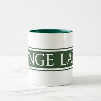 Minge Lane, Street Sign, Worcestershire, UK Two-Tone Coffee Mug