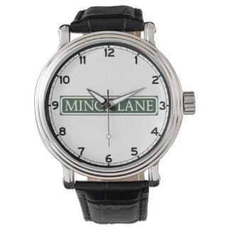Minge Lane, Street Sign, Worcestershire, UK Wrist Watch