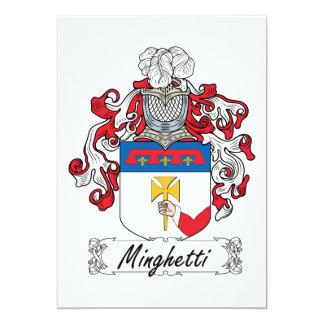 Minghetti Family Crest Card