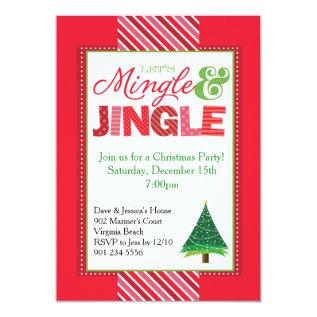 Mingle And Jingle Christmas Party Invitation at Zazzle
