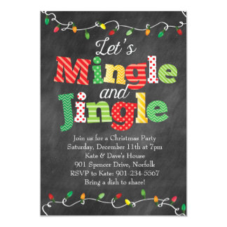 Mingle & Jingle Christmas Lights Card