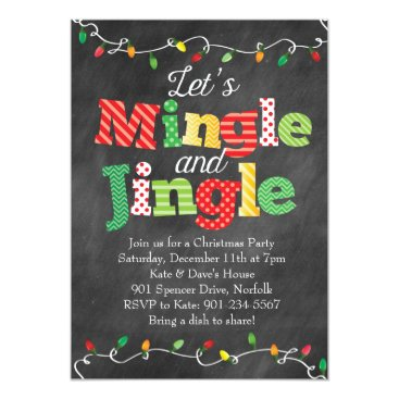 Christmas Themed Mingle & Jingle Christmas Lights Card