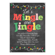 Mingle & Jingle Christmas Lights Invitation