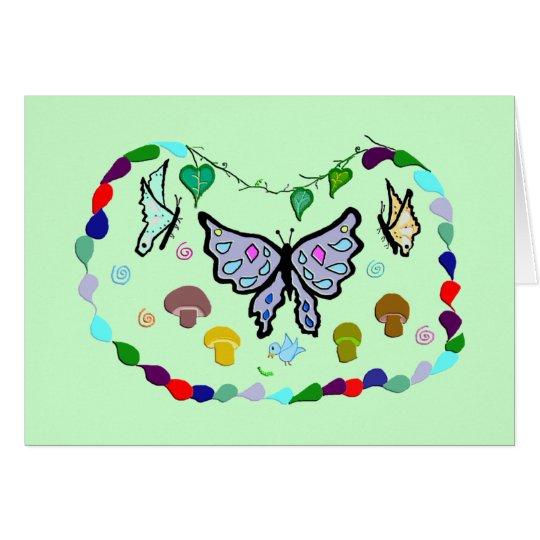 Mingling Butterflies Card