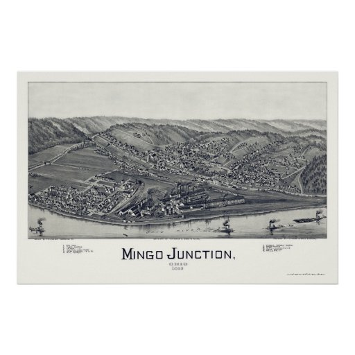 Mingo Junction, OH Panoramic Map - 1895 Poster