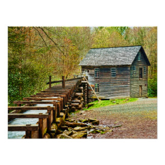Mingus Mill, Great Smoky Mountains Poster