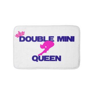 Mini alfombra de baño doble de la reina
