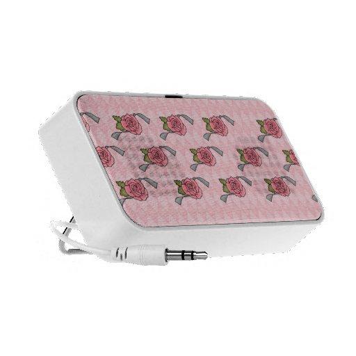 Mini altavoces del iphone del ipad de los rosas