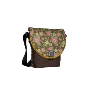 Mini amarillo del rosa de la bolsa de mensajero bolsas de mensajería