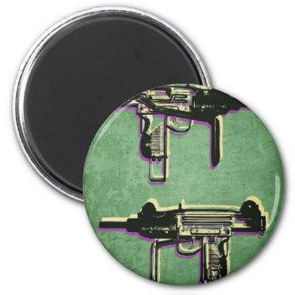 Mini ametralladora sub de Uzi en verde Imanes