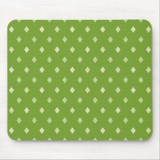 Mini Argyle - Gentle Greens Mouse Pad