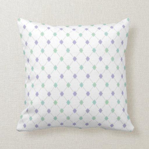 Mini Argyle - Mint & Lavender Pillows