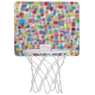 Mini aro de baloncesto borroso de los cuadrados canasta mini