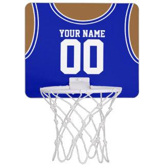 Mini aro de baloncesto de encargo del nombre/del canasta mini