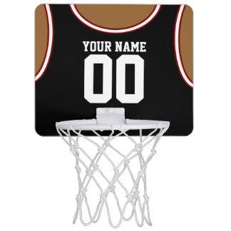 Mini aro de baloncesto de encargo del nombre/del canastas mini