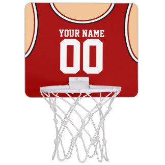 Mini aro de baloncesto de encargo del nombre/del minicanasta