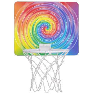 Mini aro de baloncesto de giro del arco iris minicanastas