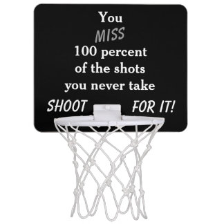 Mini aro de baloncesto de motivación canastas mini
