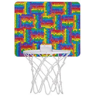 Mini aro de baloncesto del vitral minicanastas