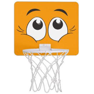 Mini aro de baloncesto sonriente de los ojos canasta mini