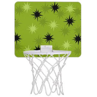 Mini aro de baloncesto verde atómico de Starbursts Canasta Mini