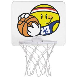 Mini aro del baloncesto sonriente canastas mini