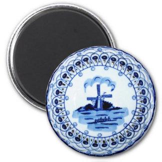 Mini Art Delft Plate Refrigerator Magnet