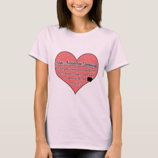 Mini Australian Shepherd Paw Prints Dog Humor T-Shirt