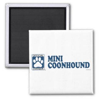 Mini azul del Coonhound Imán