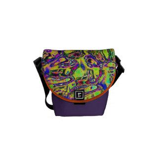 Mini bag Messenger abstract coloured image