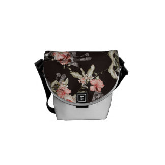 mini bag rabbit, birds and flowers courier bag