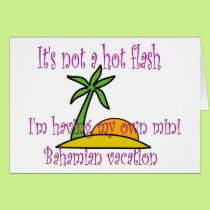 Mini Bahamian vacation Card