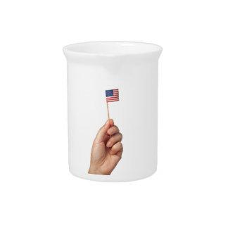 Mini bandera de los Estados Unidos de América Jarras