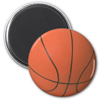 Mini Basketball 2 Inch Round Magnet