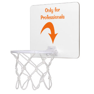 Mini Basketball Goal White with Orange Arrow Mini Basketball Backboard