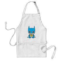 batman, cat woman, superman, wonder woman, batgirl, flash, dc comics, justice league, chibi super heroes, japanese toy cartoon, Apron with custom graphic design
