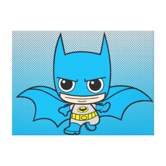 Mini Batman Running Canvas Print