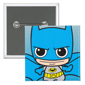 Mini Batman Running Pinback Button