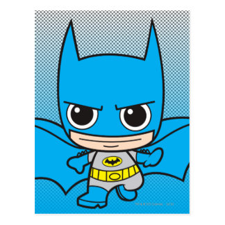 Mini Batman Running Postcard