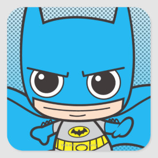 Mini Batman Running Square Sticker