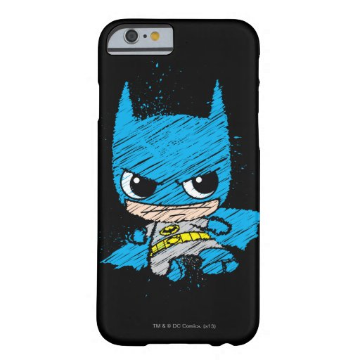 Mini Batman Sketch Barely There iPhone 6 Case