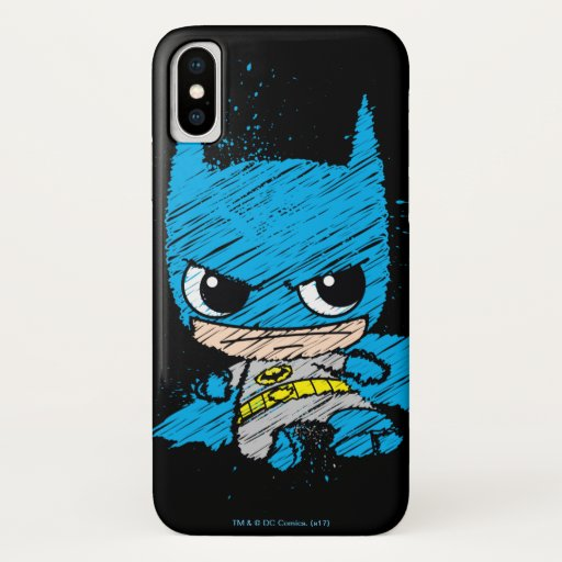 Mini Batman Sketch iPhone X Case
