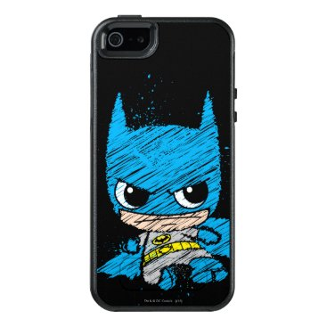 Mini Batman Sketch OtterBox iPhone 5/5s/SE Case