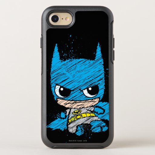 Mini Batman Sketch OtterBox Symmetry iPhone 8/7 Case