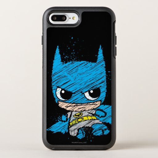 Mini Batman Sketch OtterBox Symmetry iPhone 8 Plus/7 Plus Case