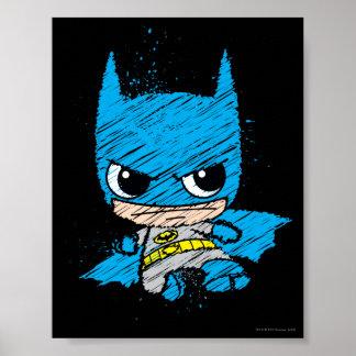 Mini Batman Sketch Poster
