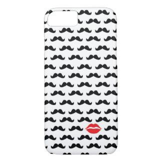 ¡Mini bigote divertido con los labios para su Funda iPhone 7